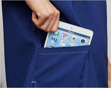 7061SC FOLK(フォーク)×Dickies スクラブ(男女兼用) 持ち運びに便利なタブレットが入るサイズのポケット付き