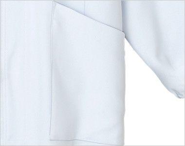 9000EW FOLK(フォーク) ブルゾン ポリ100% SEK制菌(赤)(男女兼用) 収納性抜群なポケット付き