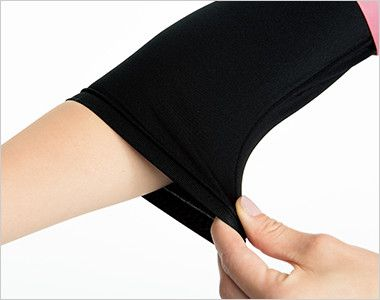 9003 FOLK(フォーク) 7.5分袖ぽかぽかカットソー(女性用) 腕まくりしてもずり落ちてこない、袖口のたるみもおこりにくいフィット感。7.5分丈の絶妙な袖丈が医療現場にマッチ