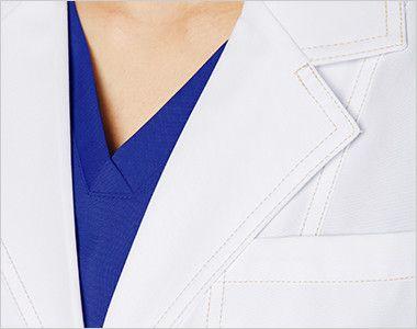 CH450 FOLK(フォーク)×CHEROKEE(チェロキー) レディスシングルコート(女性用) 襟元や袖口などにシャンパンゴールドの糸で施したダブルステッチがアクセント。