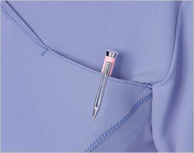 [在庫限り]CH752 FOLK(フォーク)×CHEROKEE(チェロキー) レディーススクラブ(女性用) ポケット付き