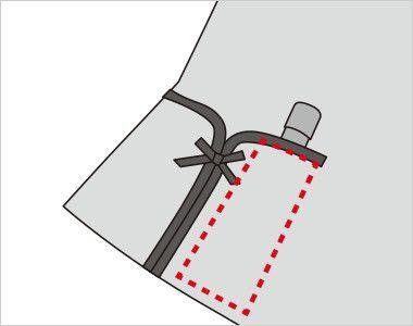FV30599 nuovo(ヌーヴォ) ベスト クレストパターン 印鑑やリップクリームなどが収まるミニポケット付き