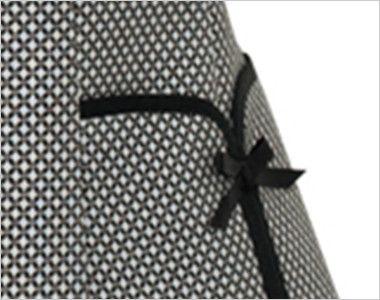 FV30599 nuovo(ヌーヴォ) ベスト クレストパターン 女性らしいフェミニンな印象の小さなリボン付サイドポケット