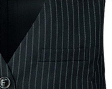 FV35889 nuovo(ヌーヴォ) ベスト ストレッチコードストライプ ポケット付き