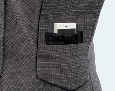 FV35890 nuovo(ヌーヴォ) [通年]ベスト スマートチェック PHSがスッキリ収まるおしゃれなリボンデザインのポケット