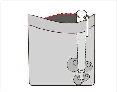 FV35900 nuovo(ヌーヴォ) [通年]ベスト チェック 中はペンのインク漏れのしみ出しを防止する生地を使用