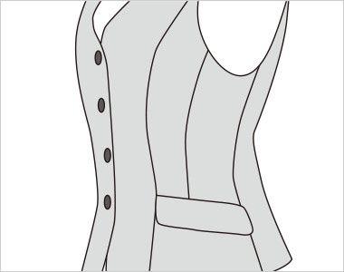 FV35900 nuovo(ヌーヴォ) [通年]ベスト チェック ボディラインをシャープに見せるスリムパネルライン