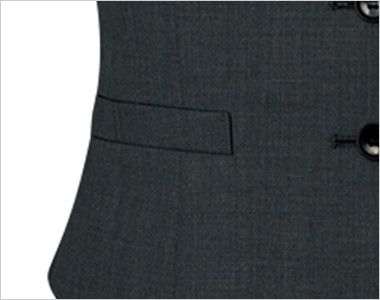 FV36012 nuovo(ヌーヴォ) [通年]ベスト 無地 ポケット付き