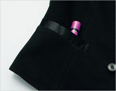 FV36023 nuovo(ヌーヴォ) [通年]ベスト ファイブファンクションニット 無地 内側に印鑑やリップクリームが収まるミニポケット付き