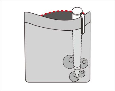 FV36104 nuovo(ヌーヴォ) [通年]ベスト フラワーギンガムチェック 中はペンのインク漏れのしみ出しを防止する生地を使用