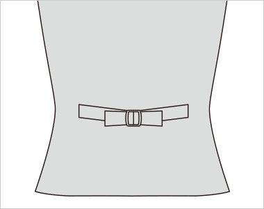 FV36104 nuovo(ヌーヴォ) [通年]ベスト フラワーギンガムチェック ウエストをシェイプさせた綺麗なバックスタイル