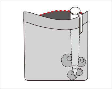 FV36125 nuovo(ヌーヴォ) [通年]ベスト ドットブロックチェック 中はペンのインク漏れのしみ出しを防止する生地を使用