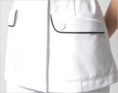 HI208 ワコール チュニック(女性用) ボタンがアクセントのフラップポケット付き