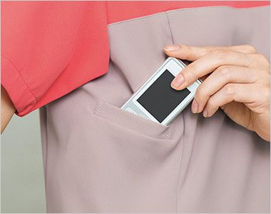 HI701 ワコール レディーススクラブ(女性用) 重量分散設計のPHS収納ポケットがあり肩こり防止