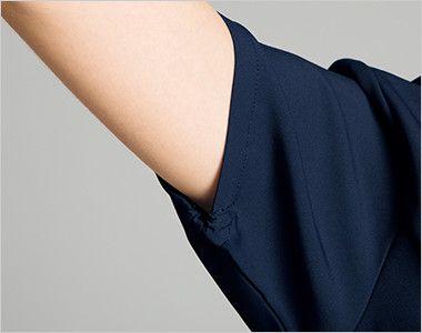 HI702 ワコール レディススクラブ(女性用) 絞られたゴム仕様なので腕を上げても下着が見えずに安心です。