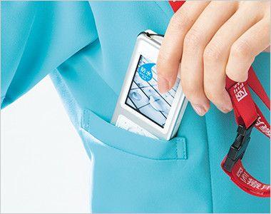 HI704 ワコール レディスジップスクラブ(女性用) 重みを分散する独自設計のPHS収納ポケット