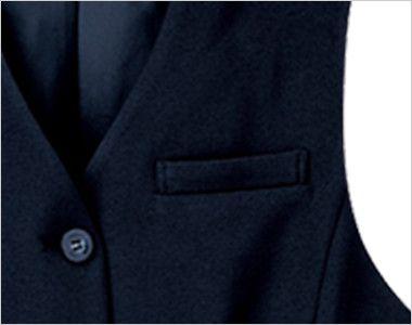 SV3005 nuovo(ヌーヴォ) [通年]ベスト 無地 ポケット付き