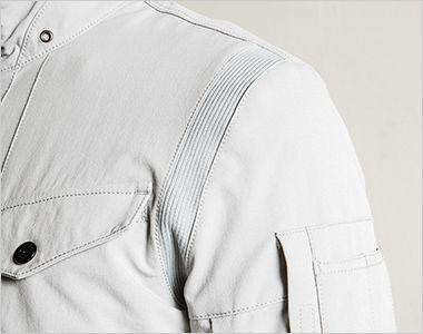 3570 アイズフロンティア ナイロン2WAYストレッチワークジャケット 外観の斬新さとさらなる動きやすさを実現したアクションリブ仕様
