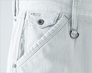 7162 アイズフロンティア ダブルアクティブカーゴパンツ ボタン付きで細部にまでこだわったコインポケット
