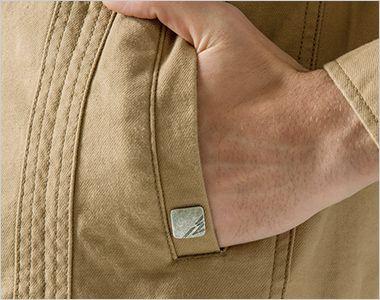 7900 アイズフロンティア ストレッチツイルワークジャケット 金属製I'Zオリジナルのワンポイント