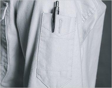 7901 アイズフロンティア ストレッチツイルワークシャツ スタイルにもこだわったペンポケット