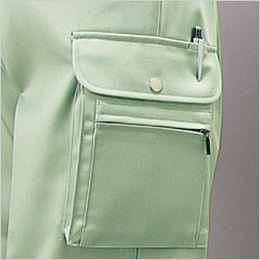 自重堂 30002 チノクロス形状安定ツータックカーゴパンツ ポケット・ペン差し付きカーゴポケット