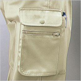 自重堂 40102 製品制電ワンタックカーゴパンツ(JIS T8118適合) 右孫ポケット・ペン差し付きカーゴポケット
