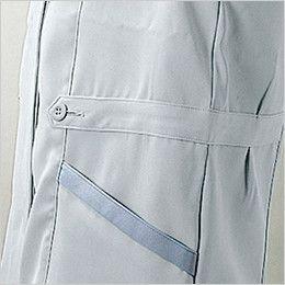 自重堂 45335 [春夏用]製品制電清涼半袖スモック(JIS T8118適合) ウエストデザイン