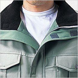 自重堂 48143 エコ防寒コート(フード付き・取り外し可能) 衿フリース仕様