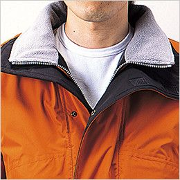 自重堂 48233 シンサレート防水防寒コート(フード付き・取り外し可能) 衿フリース仕様