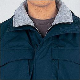 自重堂 48263 エコ防寒防寒コート(フード付き・取り外し可能) 衿フリース仕様
