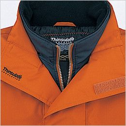 自重堂 48343 シンサレート防水防寒コート(フード付き・取り外し可能) 二重衿仕様