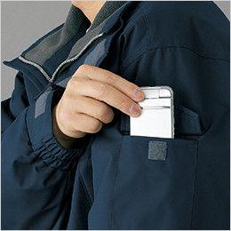 自重堂 48433 防水防寒コート(フード付・取り外し可能) 機能ポケット