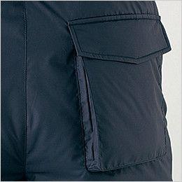 自重堂 48441 超耐久撥水 裏アルミ防寒パンツ マチ付きポケット