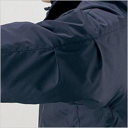 自重堂 48443 超耐久撥水 裏アルミ防寒コート(フード付・取り外し可能) 肘タック