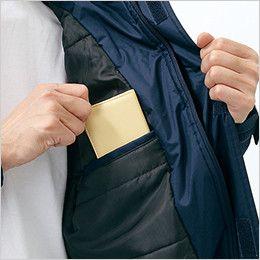 自重堂 48463 [秋冬用]防水防寒ハーフコート(フード付き・取り外し可能) 内ポケット
