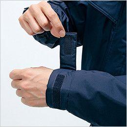 自重堂 48463 [秋冬用]防水防寒ハーフコート(フード付き・取り外し可能) アジャスター付き