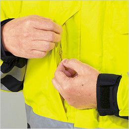 自重堂 48473 高視認性安全服 防水防寒コート(フード付) 右胸ポケット