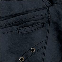 自重堂 51604 [秋冬用]JAWIN 長袖シャツ(年間定番生地使用) ポケット ループ付き