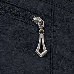 自重堂Jawin 51604 [秋冬用]長袖シャツ(年間定番生地使用) デザインファスナー持ち手