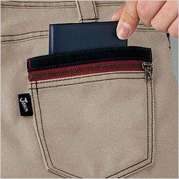 自重堂 51702 JAWIN ノータックカーゴパンツ(新庄モデル) 二重ポケット