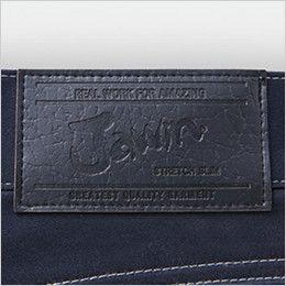 自重堂Jawin 52502 ストレッチノータックカーゴパンツ 革ラベル(人工皮革)
