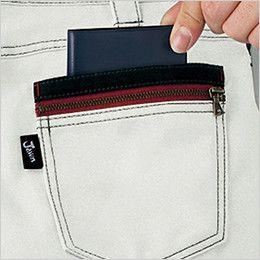 自重堂Jawin 55702 [春夏用]ノータックカーゴパンツ(新庄モデル)  二重ポケット