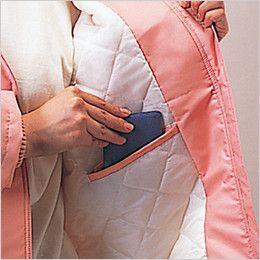 自重堂 560 レディース防寒コート(フード付) ポケット