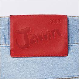 自重堂Jawin 56902 [春夏用]ストレッチノータックカーゴパンツ 革ラベル(人工皮革)