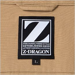 自重堂 74000 [春夏用]Z-DRAGON 空調服 綿100% 長袖ブルゾン ブランドロゴの背ネーム