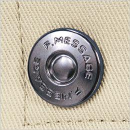 自重堂 80201 綿100%ストレッチ ツータックパンツ デザインボタン