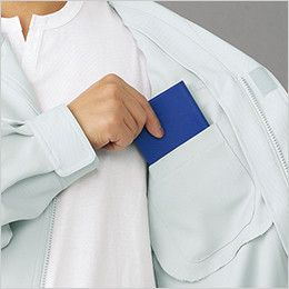 自重堂 81100 エコ製品制電ブルゾン(JIS T8118適合) 左胸 内ポケット