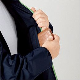 自重堂 81220 フィールドメッセージ スポーティジャケット(フード付) 左胸 内ポケット
