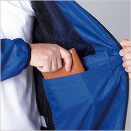 自重堂 81230 フィールドメッセージ ポータブル長袖ジャケット 左胸 内ポケット